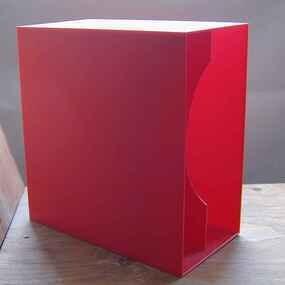 LP-Box, 70er Jahre - in rot, für ca. 40 LPs