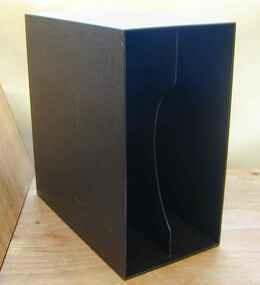 LP-Box, 70er Jahre - in edlem dunkelbraun, für ca. 40 LPs
