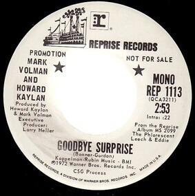 Mark Volman And Howard Kaylan - Goodbye Surprise
