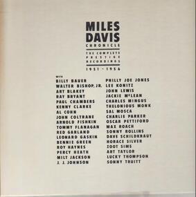 Miles Davis - Chronicles, The Complete Prestige Recordings