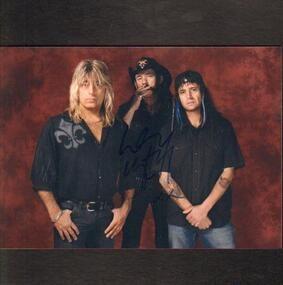 Mötley Crüe - Motörhead Signed Photo