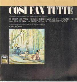 Wolfgang Amadeus Mozart - Cosi Fan Tutte,, Philh Chorus and Orch London, Böhm