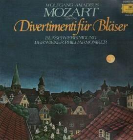 Wolfgang Amadeus Mozart - Divertimenti für Bläser,, Bläservereinigung dre Wiener Philharmoniker