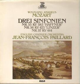 Wolfgang Amadeus Mozart - Drei Sinfonien-Haffner, Linzer, Nr. 37,, J.F. Paillaird, English Chamber Orch