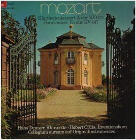 Wolfgang Amadeus Mozart - Klarinettenkonzert A-dur, Hornkonzert Es-dur; H. Deinzer, H. Crüts