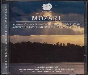Wolfgang Amadeus Mozart - Konzert für Klavier & Orchester Nr 12 a-Dur, KV 414 / Nr. 27-B-Dur, KV 595