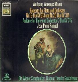 Wolfgang Amadeus Mozart - Konzerte für Flöte und Orch Nr.1 G-Dur und Nr.2 D-Dur, Andante für Flöte und Orch; J.P. Rampal