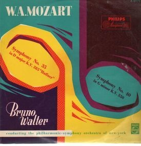 Wolfgang Amadeus Mozart - Symph No.35 in D major, No.40 in G minor,, Bruno Walter, philh symph orch, NY