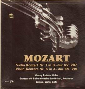 Wolfgang Amadeus Mozart - Violin Konzert Nr.1& Nr.5,, Manoug Parikian-Violine, Orch der Philh Gesellschaft, Amsterdam, Ltg W.