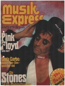 Musikexpress - 10/75 - Alice Cooper