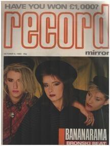 Record Mirror - OCT 6 / 1984 - Bananarama