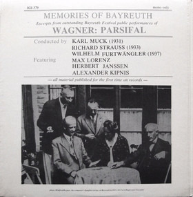 Richard Wagner - Memories Of Bayreuth (Excerpts From Outstanding Bayreuth Festival Public Performances Of Wagner: Pa