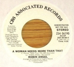 Robin Angel - A Woman Needs More Than That