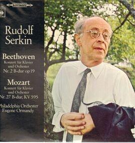 Ludwig Van Beethoven - Beethoven-Konzert für Klavier und Orch Nr.2 B-dur, Mozart-Konzert für Klavier und Orch Nr.27 B-dur