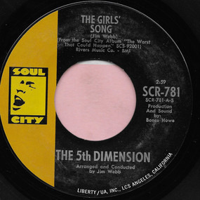 Fifth Dimension - The Girls' Song / It'll Never Be The Same Again