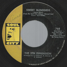 Fifth Dimension - Sweet Blindness / Bobbie's Blues (Who Do You Think Of?)