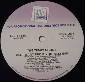 The Temptations - All I Want From You