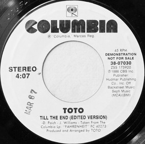 Toto - Till The End