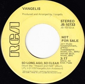 Vangelis - So Long Ago, So Clear / Heaven And Hell Theme