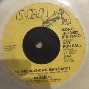 Vangelis - To The Unknown Man Part I