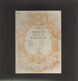 Giuseppe Verdi - Oberto, Conte Di San Bonifacio