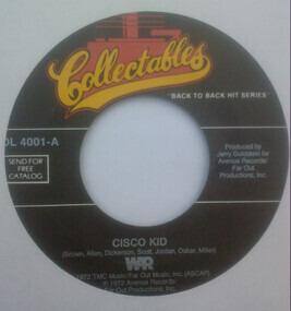 War - Cisco Kid / All Day Music