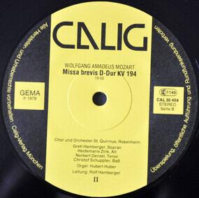 Wolfgang Amadeus Mozart - Missa Brevis B-Dur KV 275 & D-Dur KV 194