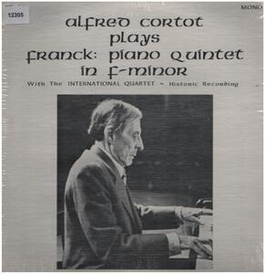 Alfred Cortot plays Franck - Piano Quintett in f-minor