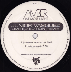 Amber - One More Night (Junior Vasquez Limited Edition Remix)