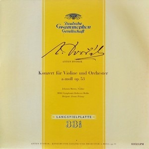 Antonin Dvorák - Konzert Für Violine Und Orchester A-Moll Op. 53