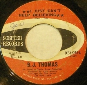 Billy Joe Thomas - I Just Can't Help Believing / Hooked On A Feeling