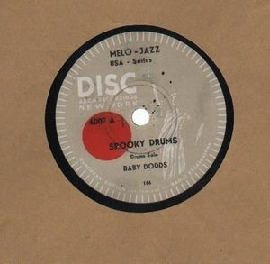 Baby Dodds - Spooky Drums/ Rudiments Withe Drumstick Nerve-Beat
