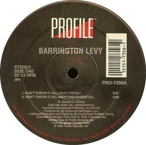 Barrington Levy - Don't Throw It All Away / Something In My Heart (Dancehall Music)