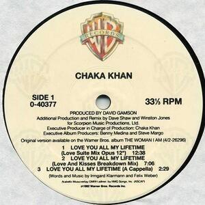 Chaka Khan - Love You All My Lifetime