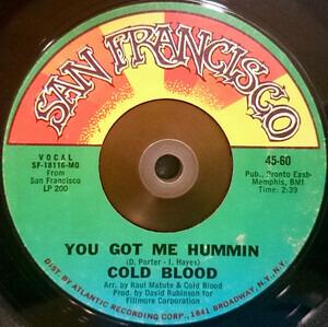 Cold Blood - You Got Me Hummin