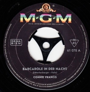 Connie Francis - Barcarole In Der Nacht
