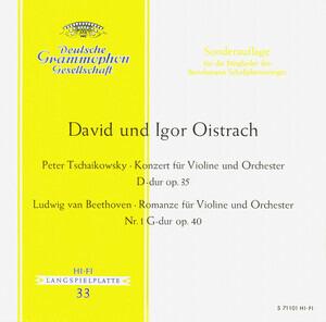 Pyotr Ilyich Tchaikovsky - Konzert Für Violine Und Orchester D-dur Op. 35 / Romanze Für Violine Und Orchester Nr. 1 G-dur Op.
