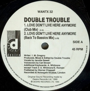 Double Trouble - Love Don't Live Here Anymore