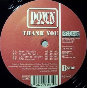 Down Low - Thank You