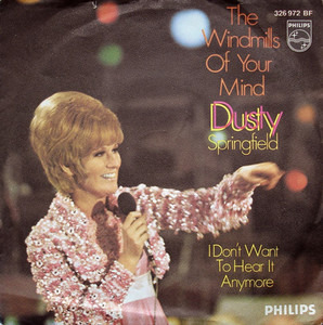 Image result for the windmills of your mind dusty springfield single images
