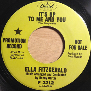 Ella Fitzgerald - It's Up To Me And You
