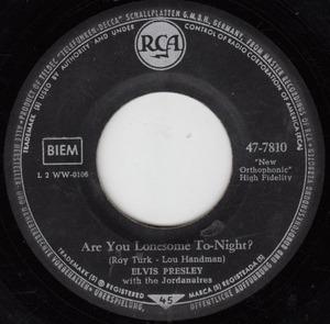 Elvis Presley - Are You Lonesome Tonight? / I Gotta Know