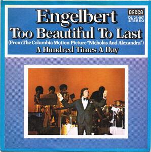 Too Beautiful To Last - Engelbert Humperdinck | 7'' | Recordsale