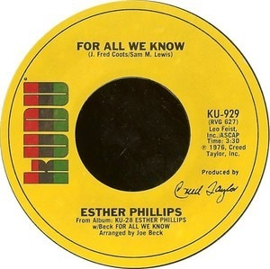 Esther Phillips - For All We Know / Fever