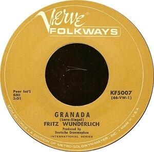 Fritz Wunderlich - Granada / I Kiss Your Hand, Madame