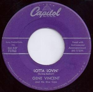 Gene Vincent - Wear My Ring / Lotta Lovin'