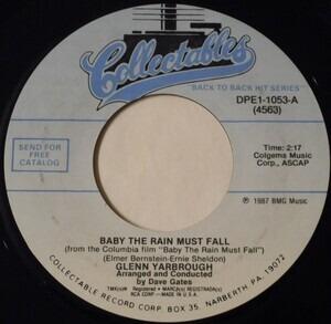 Glenn Yarbrough - Baby the Rain Must Fall