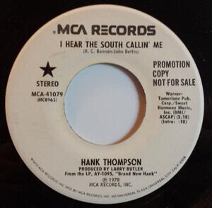 Hank Thompson - I Hear The South Callin' Me
