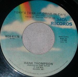 Hank Thompson - Tony's Tank Up Drive-In Cafe