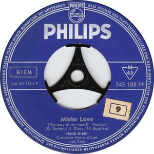 """Heidi Brühl - Mister Love / Sag Mir Leis' """"Je T'aime"""""""
